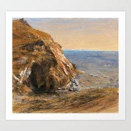 Samuel Palmer - The Rock Slip Near Boscastle - Digital Remastered Edition Art Print