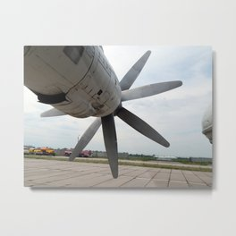 Aviation engine propellers Metal Print