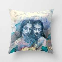 Curiosity and Creativity are Sisters Throw Pillow
