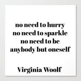 virginia woolf quotes Canvas Print