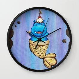 Hippopo Ice Cream Taiyaki Mermaid Wall Clock