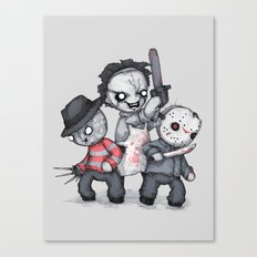 Horror Trifecta Plushie  Canvas Print