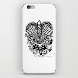 This goodbye is not forever Sympathy  - Zentangle Illustration iPhone Skin