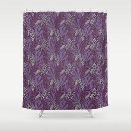 Purple Botanical Pattern Shower Curtain