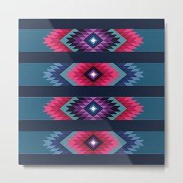 American Native Pattern No. 125 Metal Print