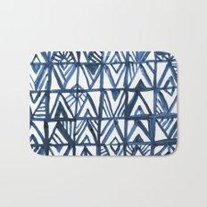 Geometric Indigo Bath Mat