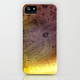 Coloribus infectum tergo glas iPhone Case