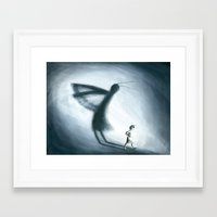 shadow Framed Art Prints featuring Shadow by Rosalie Street
