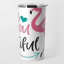 Beautiful Flamingo, Cute Pink Flamingo Travel Mug