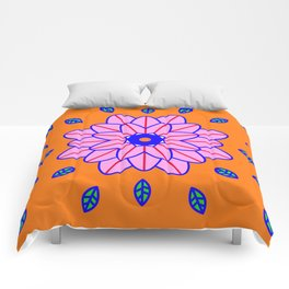 Flower Power Orange Vibes Comforters