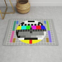 TV test pattern Rug