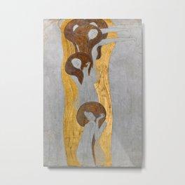 Gustav Klimt - Die Künste Metal Print