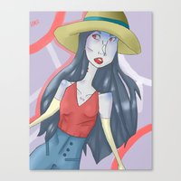marceline Canvas Prints featuring marceline!! by clairen0vak