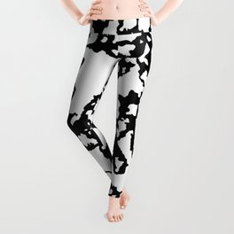 braking up, black and white Leggings