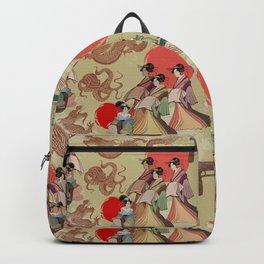 Geisha pattern Backpack