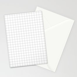 Small Diamonds - White and Pale Gray Stationery Cards