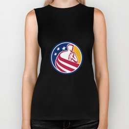 American Rugby Player Icon Biker Tank
