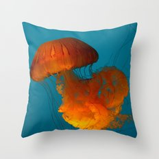 Jellyfish In The Blue... Throw Pillow