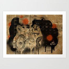 Bo-bo Steals a Ride (alt) Art Print