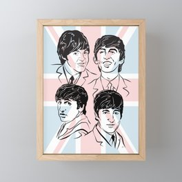 Face The Fab Four 2 Framed Mini Art Print
