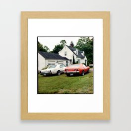 Classic Cars, Connecticut, 2012 Framed Art Print