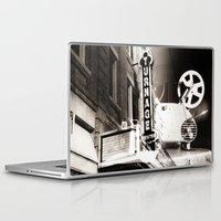 theater Laptop & iPad Skins featuring Turnage Theater by Justin Alan Casey