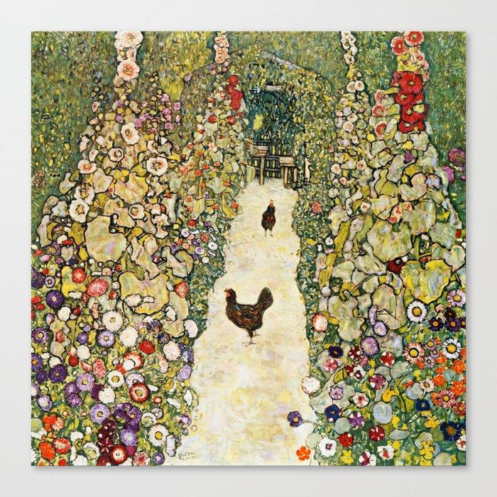 Gustav Klimt Garden Path With Chickens Leinwanddruck