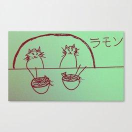 Ramen Cats Canvas Print