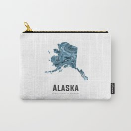 Alaska - State Map Art - Abstract Map - Blue Carry-All Pouch