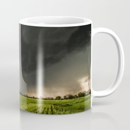 Beautiful Storm - Tornado Emerges From Rain Over Wheat Field in Kansas Coffee Mug