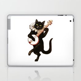 Black Halloween Cat for Decor and T Shirts Laptop & iPad Skin