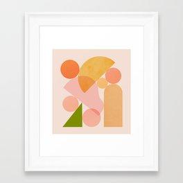 Abstraction_SHAPES_COLOR_Minimalism_002 Framed Art Print