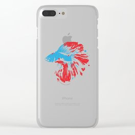 Betta Splendens T Shirt Bettas Siamese Fighting Fish Gift Clear iPhone Case