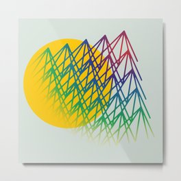 Mounts Metal Print