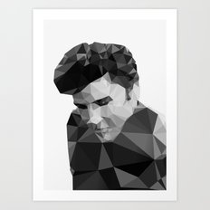 Elvis Presley - Digital Triangulation Art Print