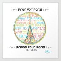 Paris t-shirt Art Print