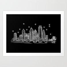 Philadelphia, Pennsylvania City Skyline Art Print