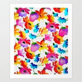 Dancing Floral Art Print