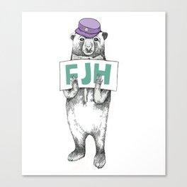 FJH-bear sign Canvas Print