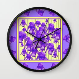 I LOVE PURPLE IRIS Wall Clock