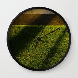 Golden Rays Wall Clock