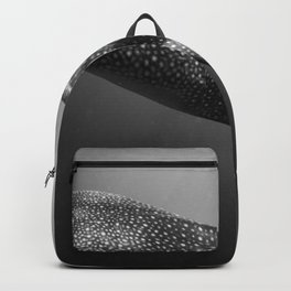 Whale shark black white Backpack