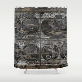Historical Maps Shower Curtain