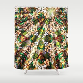 Flower Forest Abstract Shower Curtain
