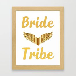 Bride Shirt-Bride Tribe-Personalized T Shirt-Bridal Party shirt-Bachelorette Shirt-Bride Tribe Shirt Framed Art Print