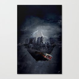 city in ruins Canvas Print