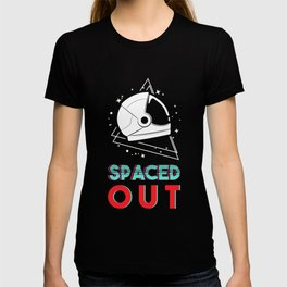 Spaced Out Spaceship Universe Astronaut Planets Astronaut Moon Star Space Astronomy Cosmo Scientist T-shirt