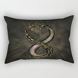 Ouroboros - Infinity Dragon Rectangular Pillow
