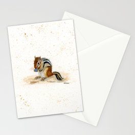 """""""Chippy"""" Chipmunk - animal watercolor painting Stationery Cards"""
