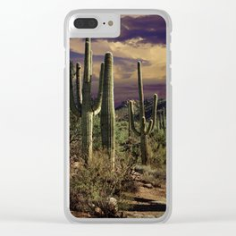 Saguaro Cactuses in Saguaro National Park Clear iPhone Case